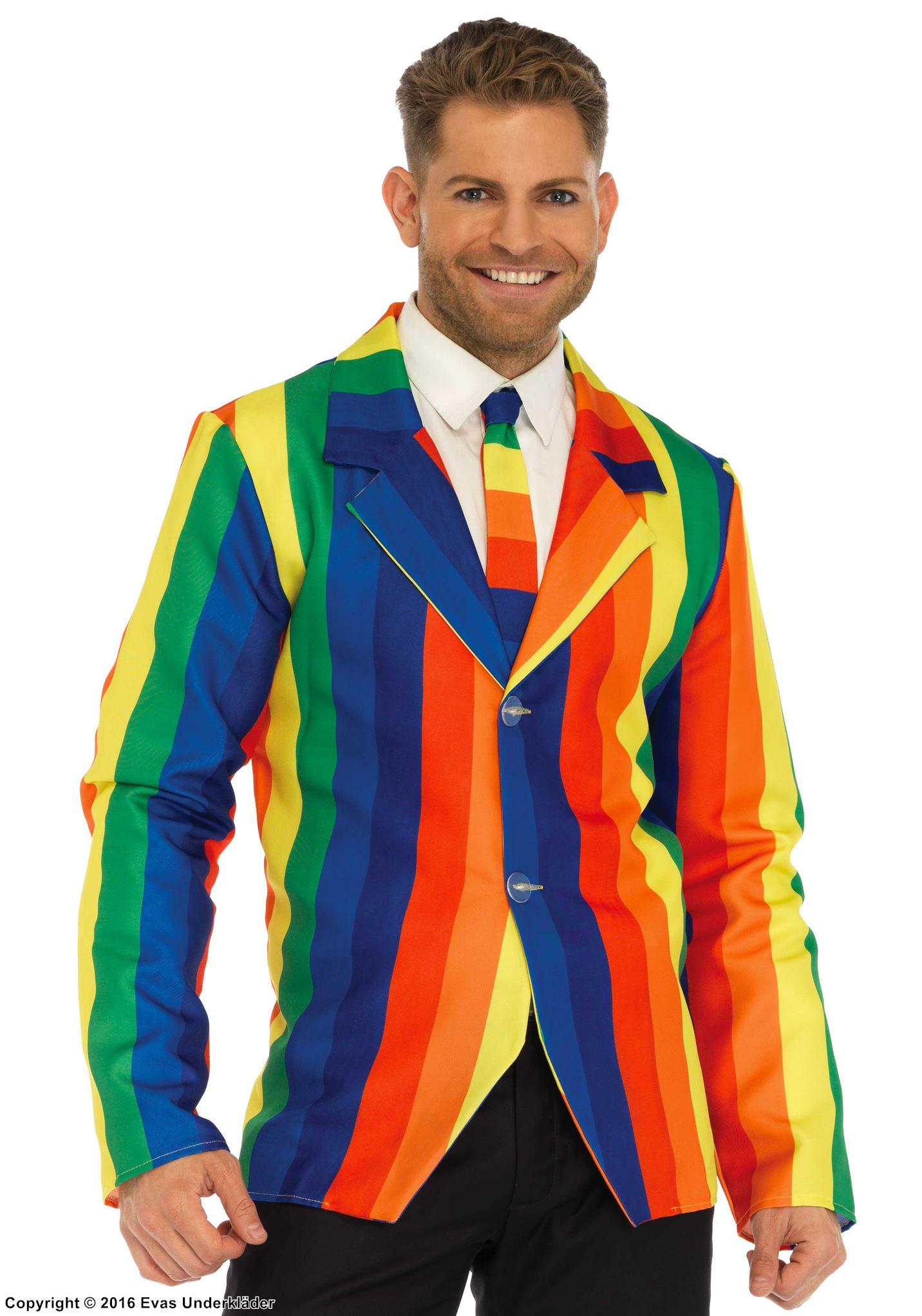 Regnbågs-kostym med matchande slips bfdb5d528d608